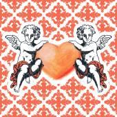 甜甜的丘比特-情人节的问候卡 — 图库矢量图片