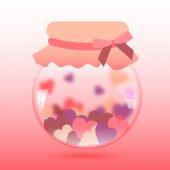 Glas mit Herz — Stockvektor