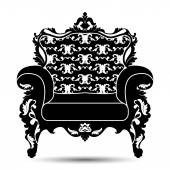 Vector silhouette of armchair — Stock Vector