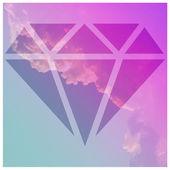 Sky with a diamond — Stock Vector