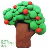Icon of plasticine tree — Stock vektor