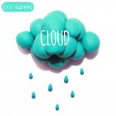 Icon of plasticine cloud — Stock vektor