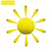 Icon of plasticine sun — Stock vektor