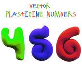 Icon of plasticine numbers — Stock vektor