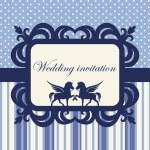 Wedding invitation in baroque style. — Stock Vector #71183209