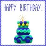 Icon of plasticine birthday cake — Stock Vector #72606489