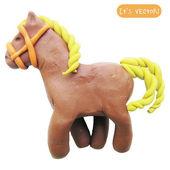 Icon of plasticine toy horse — Stock Vector