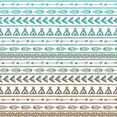 Seamless vector pattern in the style of boho or hippy — Stock Vector
