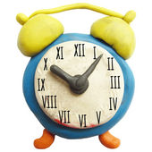 Icon of plasticine alarm clock — Stock Vector