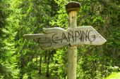 Camping sign — Stock Photo