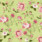 Fond fleur Vintage — Vecteur