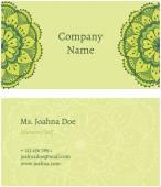 Oriental business card — Stockvector