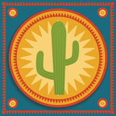 Cactus on stylized background — Stock Vector