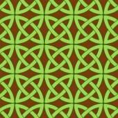 Keltische patroon bruin — Stockvector