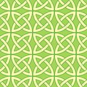 Green celtic pattern — Stock Vector