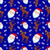 Santa&moose — Vettoriale Stock