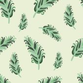 Jade feather — Stockvektor