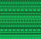 Green aztec pattern — Stock Vector
