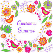 Awesome summer — Stock Vector