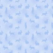 Blue enchanted lapins pattern — Stock Vector