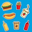 Fast food — Stock Vector #77526256