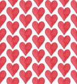 Czerwone serce wzór — Wektor stockowy