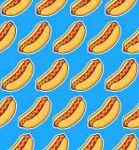 Sticker hot dogs — Stock Vector
