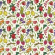 Colorful berries seamless pattern. — Stock Vector #52944569