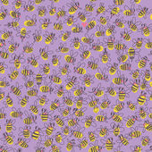 Seamless pattern with bees. — Stock Vector