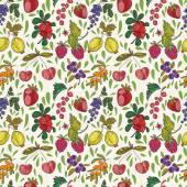 Colorful berries seamless pattern. — Stock Vector