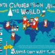 Santa Clauses from Around the World. — Stock Vector #58284169