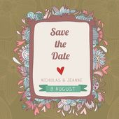 Stylish save the date card. — Stock Vector