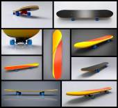 Skateboard Collage — Foto de Stock