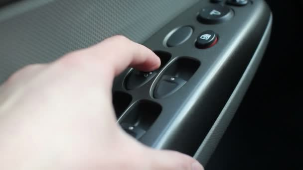 Checking of car windows at service station — Vídeo de stock