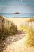 Vintage Beach vykort — Stockfoto