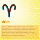 Aries Horoscope with copy space — Stock Vector