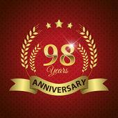 98 Years Anniversary Seal — Stock Vector