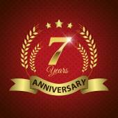 7 Years Anniversary Seal — Vettoriale Stock