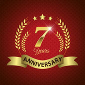 7 Years Anniversary Seal — Vector de stock