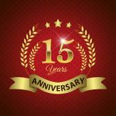 15 Years Anniversary Seal — Stock Vector