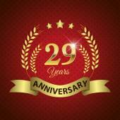 29 Years Anniversary Seal — Stock Vector