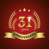 31 Years Anniversary Seal — Stock Vector