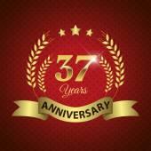 37 anni guarnizione di anniversario — Vettoriale Stock