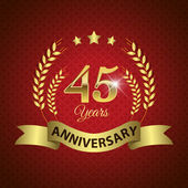 45 Years Anniversary Seal — Stock Vector
