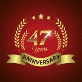 47 Years Anniversary Seal — Stock Vector