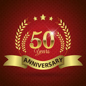 50 Years Anniversary Seal — Stock Vector