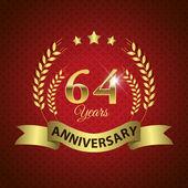 64 Years Anniversary Seal — Stock Vector