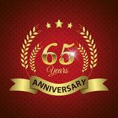 65 Years Anniversary Seal — Stock Vector