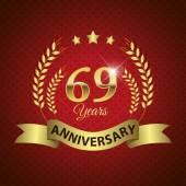 69 Years Anniversary Seal — Wektor stockowy