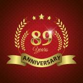 89 Years Anniversary Seal — Stock Vector